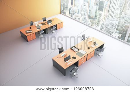 Orange Office Top