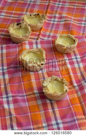 Homemade traditional portugal dessert of eggs and cream pasteis de nata