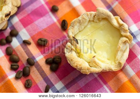 Homemade traditional portugal dessert of eggs and cream pasteis de nata