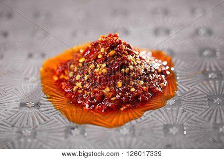 Extreme hot asian chillies garlic sauce - Laza or Lazdzhan