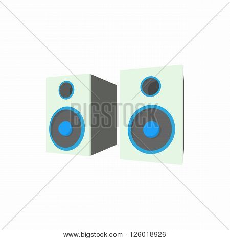 Speakers icon in cartoon style on a white background