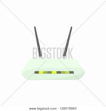 Router icon in cartoon style on a white background