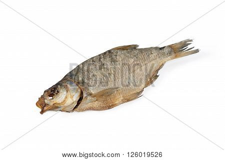 Dried fish bream. Isolated on white background.
