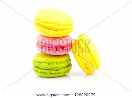 Macaroon On White