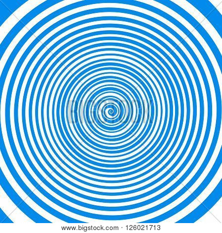 Crazy magical blue and white hypnotic spiral pattern