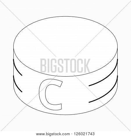 Captain armband icon in isometric 3d style on a white background