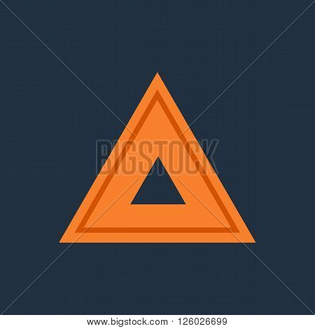 Emergency warning triangle. Automobile emergency stop sign. Vector illustration
