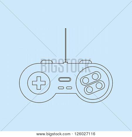 Gamepad Joystick. Joystick game console. Vector illustration