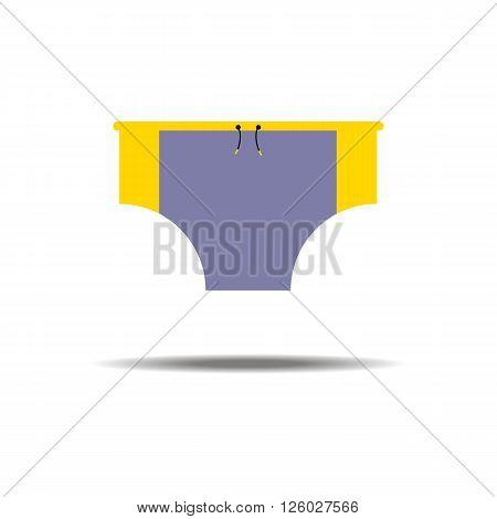 Men Swimming Trunks. Sea Swimming. Vector illustrator