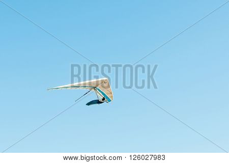 PORT ELIZABETH SOUTH AFRICA - FEBRUARY 27 2016: A hang glider in the air at Beachview near Port Elizabeth