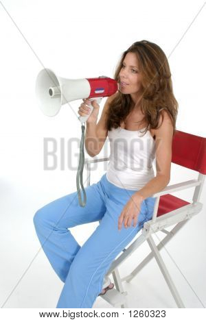 Woman Director With Megaphone 2