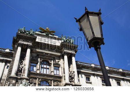Statues On The Hofburg Palace In Vienna, Residence Of The President Of Austria