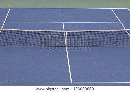 KYIV UKRAINE - APRIL 16 2016: Central court of Campa Bucha Tennis Club during BNP Paribas FedCup game Ukraine vs Argentina Kyiv Ukraine