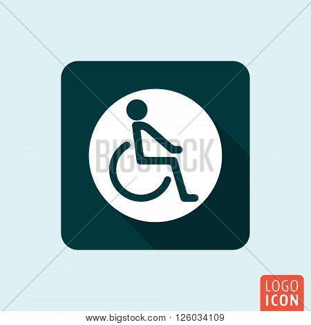 Disabled handicap icon. Disability symbol. Vector illustration
