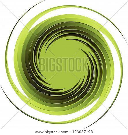 Vortex background green vector.Swirl abstract isolate illustration.