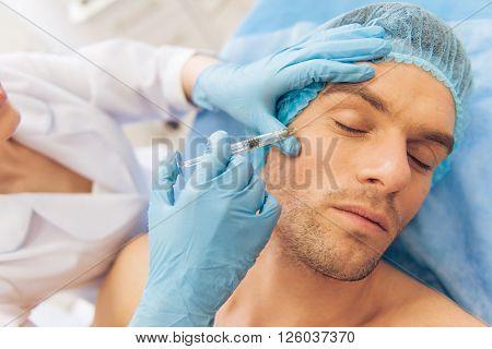Man At The Plastic Surgeon