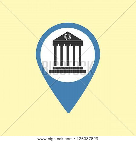 Sightseeing Pin. Greece Athens Icon. Vector illustration
