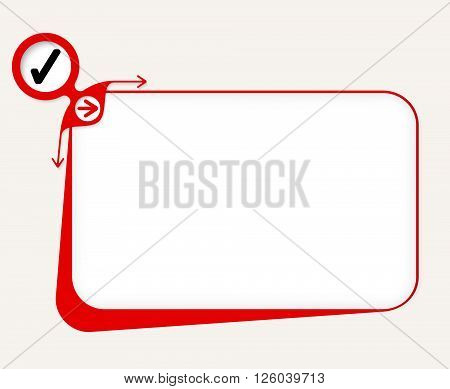 Vector red box to fill your text and check box