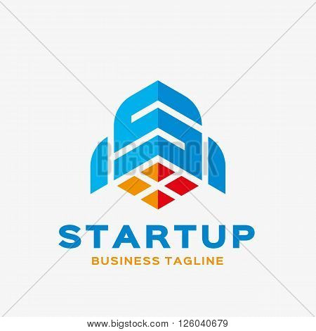Abstract letter S rocket logo. Abstract business logo design template. Logo template editable for your business.