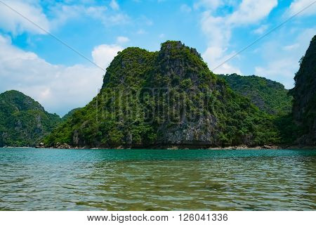 Mountain islands in Halong Bay, Vietnam, Southeast Asia