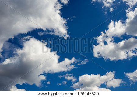 beautiful blue sky with white clouds clouse up
