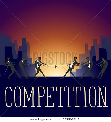 Vector flat business concept ideas competition