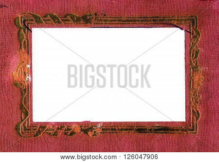Vintage Red Fabric with a Framework for Photography
