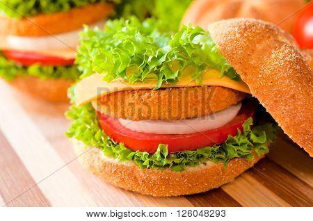 Fried Fish Burger