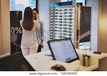 Saleslady Assisting A Customer In A Store