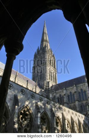 Cathedral At Salisbury