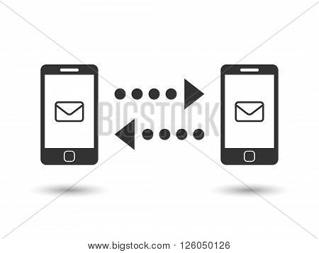 Mailing with cellphone concept. Vector EPS 10.
