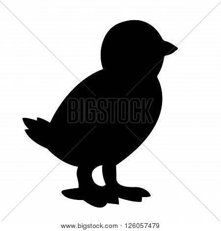 Chicken Silhouette Vector Image EPS 10 Format
