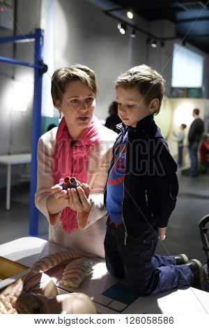 Mother With Her Son Talking About Heart