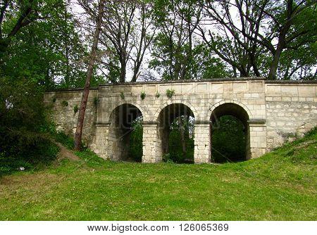 A lttle stone bridge in the Brunszvik estate