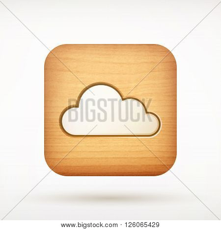 Cloud App Icon On Rounded Corner Square