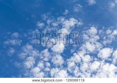 Fluffy Clouds, Sunny Day,