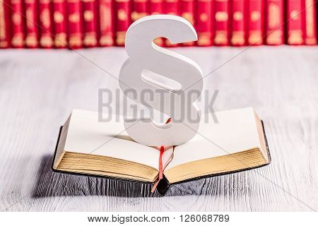 White Wooden Paragraph The Symbol Of Law