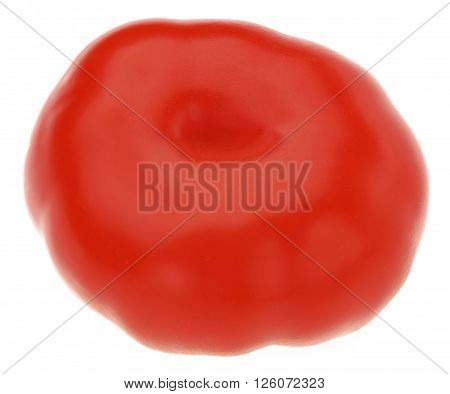 Fresh ripe Tomato isolated on a white background. 