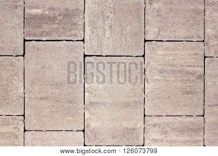 Paving slabs of various forms flowers and the sizes for decoration of pedestrian zones