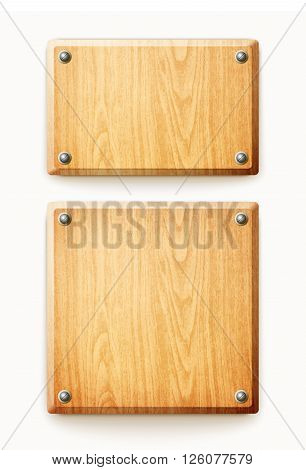Two Wooden Planks Isolated On White Background