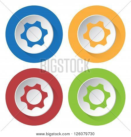 set of four colored icons - nut icon