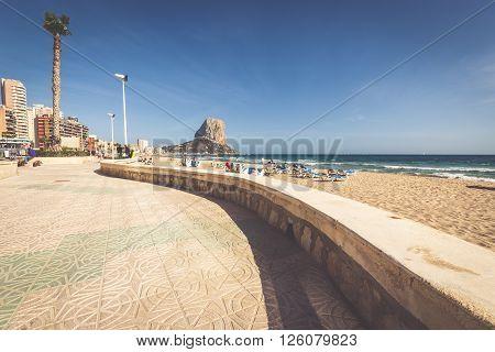 CalpeSpain-April 22015: Famous Mediterranean Resort Calpe in Spain