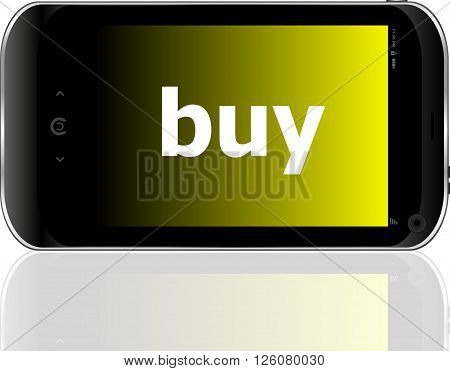 Smartphone With Word Buy On Display, Business Concept