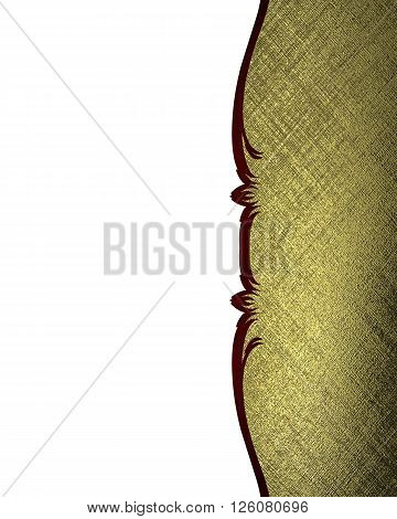 Gold Pattern. Template For Design. Copy Space For Ad Brochure Or Announcement Invitation, Abstract B