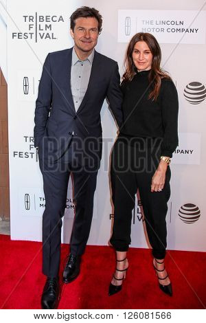 NEW YORK, NY - APRIL 16: Actor Jason Bateman (L) and Amanda Anka attend 'The Family Fang' Premiere - 2016 Tribeca Film Festival  on April 16, 2016 in New York City