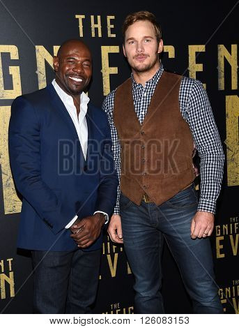 LOS ANGELES - APR 12:  Antoine Fuqua & Chris Pratt arrives to the CinemaCon 2016: Sony Pictures Presentation of 2016 Films  on April 12, 2016 in Las Vegas, NV.