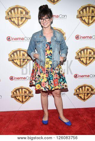 LOS ANGELES - APR 12:  Katie Crown arrives to CinemaCon 2016: Warner Bros.