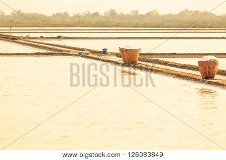 Basket Of Salt In Salt Farm