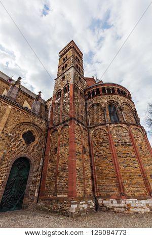 Basilica of St. Servatius at Vrijthof Square in Maastricht Netherlands