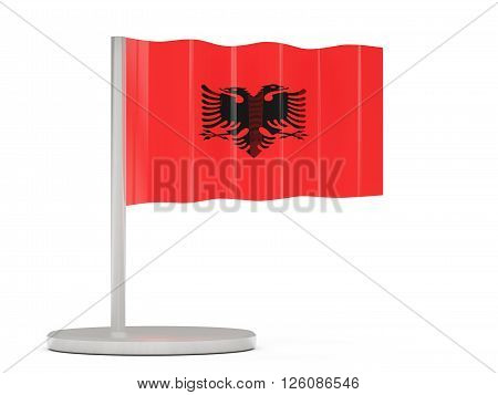 Pin With Flag Of Albania